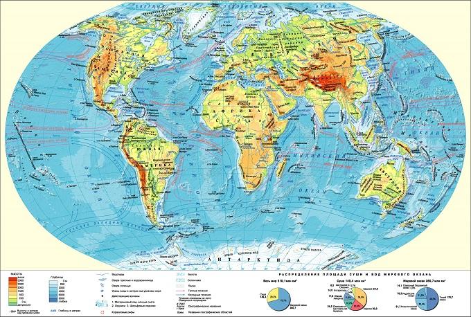 Карта океанических течений