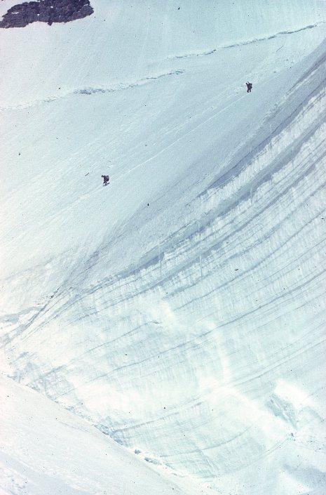 бергшрунд на леднике